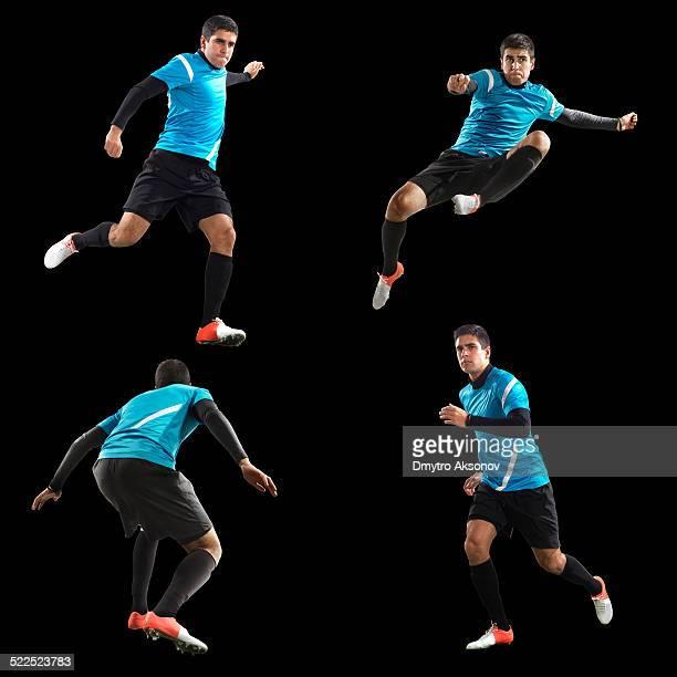Fußball Spieler isoliert pack