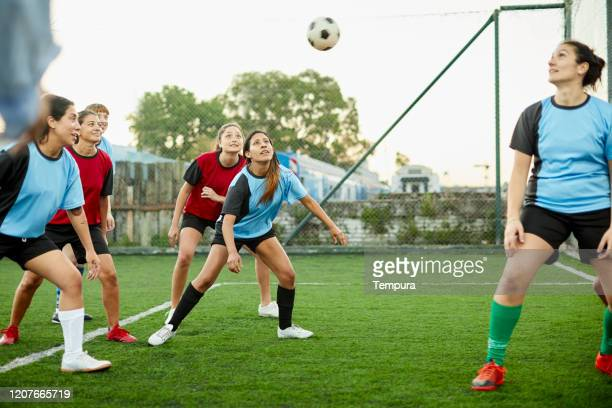 soccer players on a corner kick ready to strike the ball. - corner kick stock pictures, royalty-free photos & images