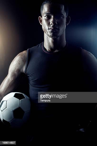 サッカー選手のポートレート_垂直