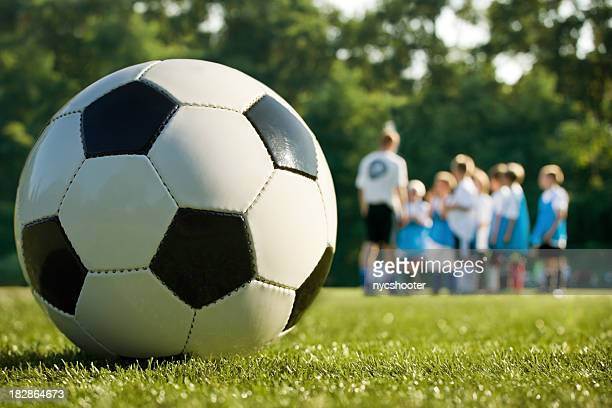 soccer practice with coach