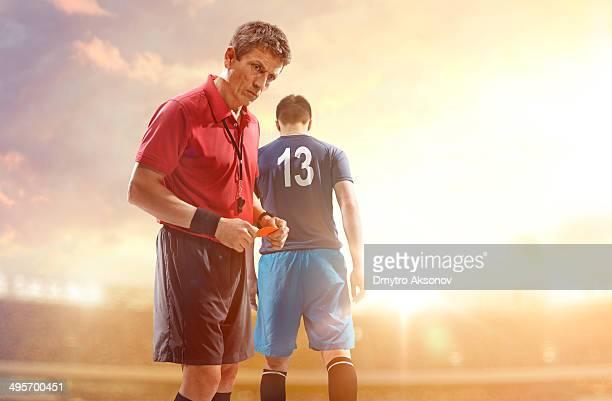 Arbitro e calcio Giocatore di football