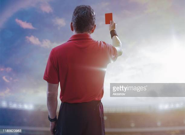 soccer referee in action - referee stock pictures, royalty-free photos & images