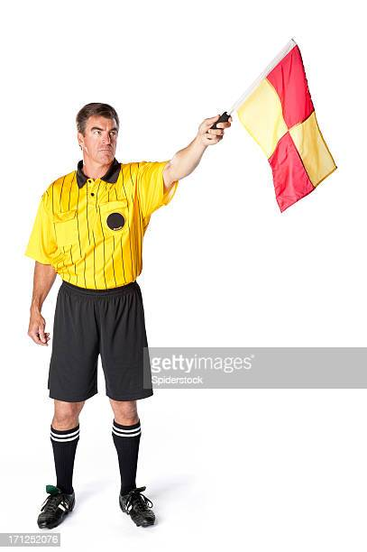 Soccer Referee With Flag