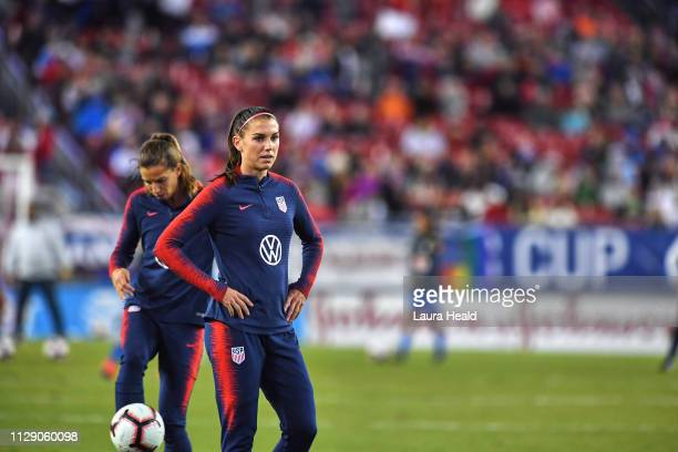 SheBelieves Cup USA Alex Morgan warming up before Group Stage match vs Brazil at Raymond James Stadium USA wins 10 Tampa FL CREDIT Laura Heald