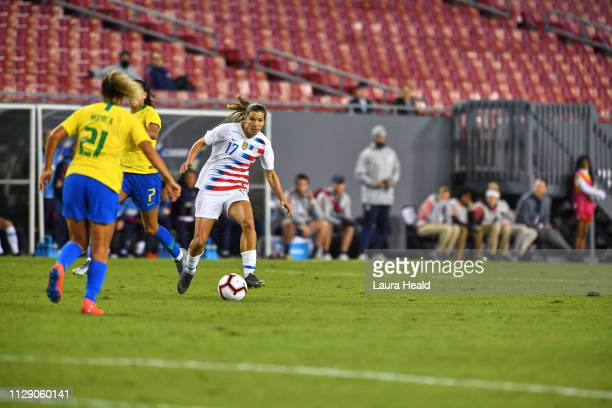 SheBelieves Cup USA Tobin Heath in action vs Brazil during Group Stage match at Raymond James Stadium USA wins 10 Tampa FL CREDIT Laura Heald