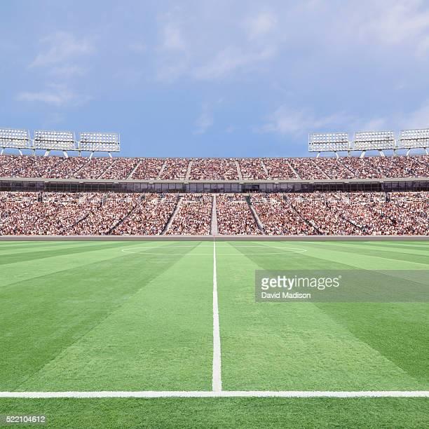 soccer stadium and field - campo de fútbol fotografías e imágenes de stock