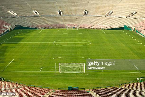 soccer stadium and field - sports venue stock pictures, royalty-free photos & images