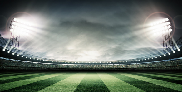 soccer stadium and the bright lights 466502526