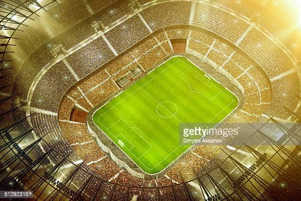 Soccer stadium bird eye view