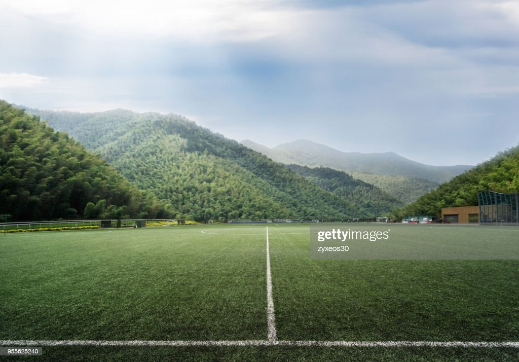 Soccer stadium in the natural environment.China - East Asia, : Photo