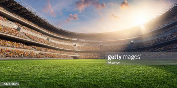 3d soccer stadium - grass stock pictures, royalty-free photos & images