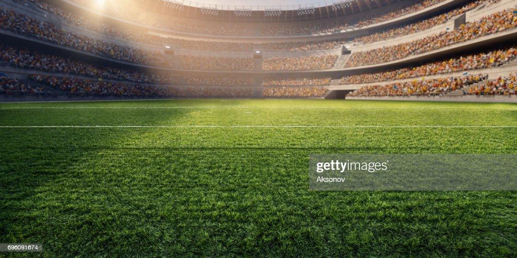 3D Fußball-Stadion : Stock-Foto