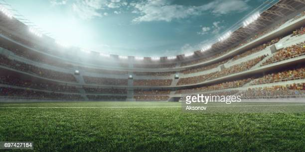 3d soccer stadium - stadium stock pictures, royalty-free photos & images