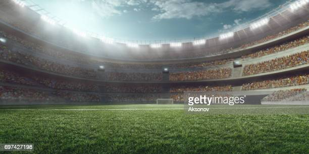 3d soccer stadium - soccer stock pictures, royalty-free photos & images