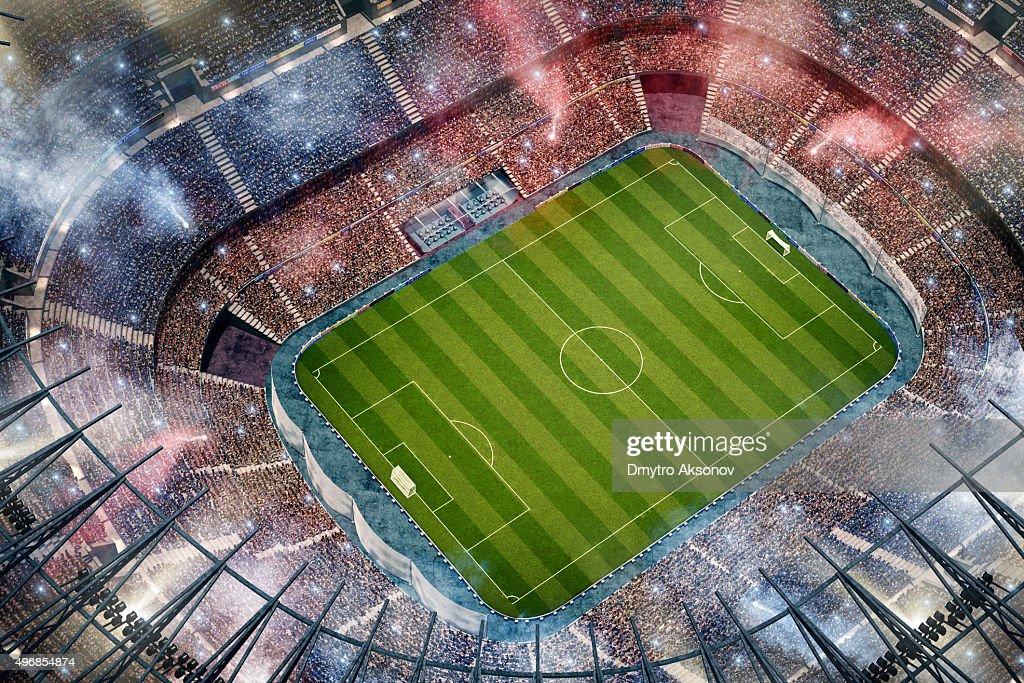 Fußballstadion Obermaterial Blick : Stock-Foto