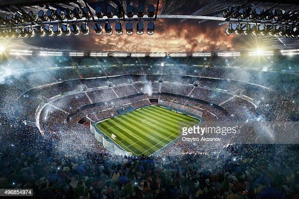 Tige avec vue sur le stade de football