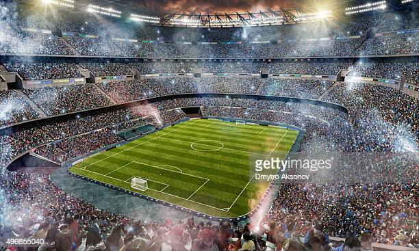 Fußballstadion Obermaterial Blick