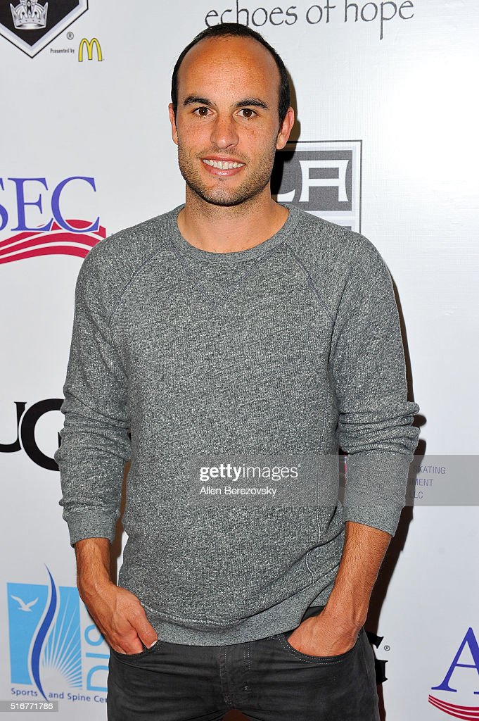US Soccer star Landon Donovan attends the Luc Robitaille Celebrity Shootout at Toyota Sports Center on March 20, 2016 in El Segundo, California.