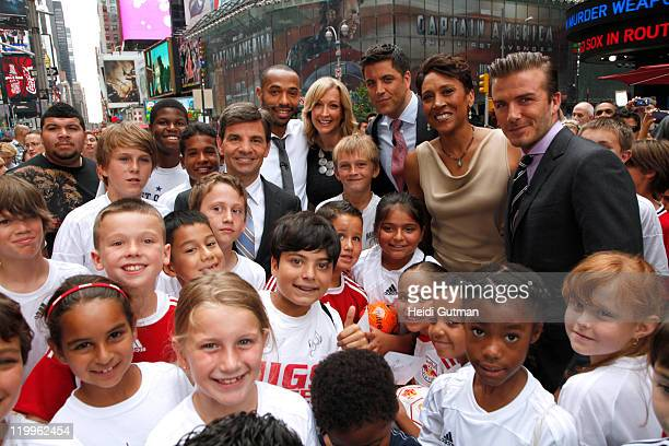 AMERICA Soccer stars David Beckham and Thierry Henry talk about the MLS AllStar Game 2011 on Good Morning America 7/25/11 on the ABC Television...
