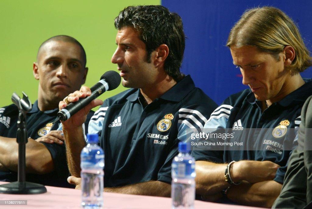 Soccer stars Roberto Carlos, Luis Figo and Michel Salgado attends