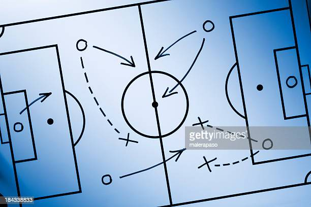 soccer strategy - blackboard visual aid stock pictures, royalty-free photos & images