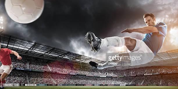 Fußball-Superstar der Luft-Kick