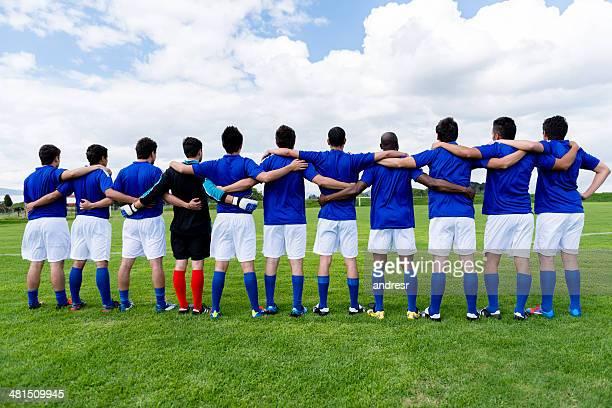 Antes de los Partidos del equipo de fútbol