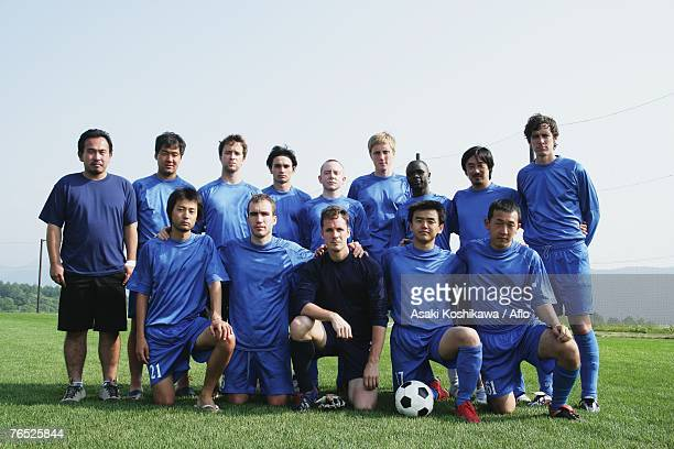 Soccer team group