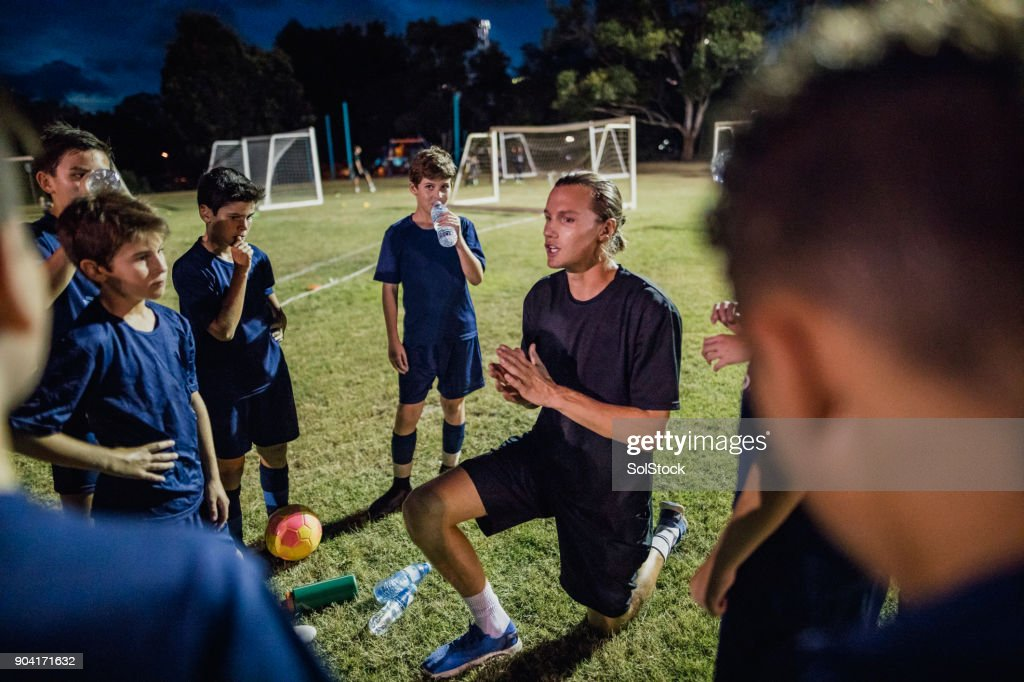 Soccer Team Meeting : Stock Photo