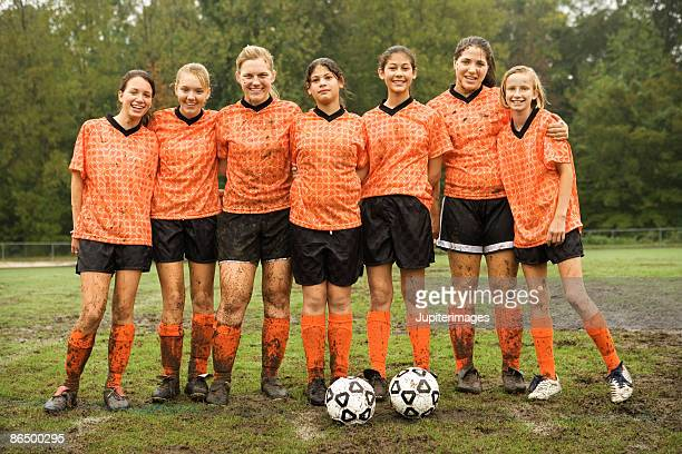 soccer team portrait - soccer team stock pictures, royalty-free photos & images