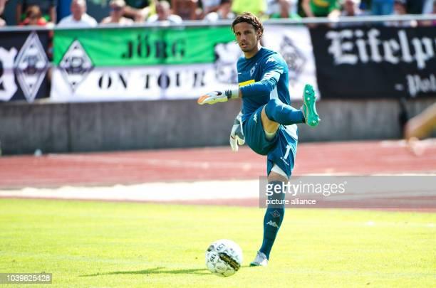 Borussia Moenchengladbach - Standard Luettich takes place in Rottach-Egern, Germany, 19 July 2015. Moenchengladbach's goalkeeper Yann Sommer in...