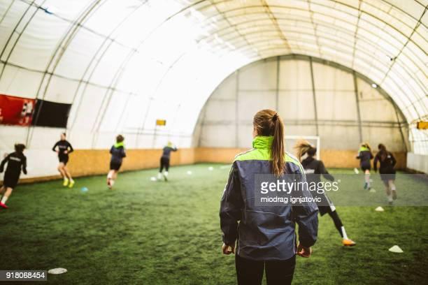 Soccer training class