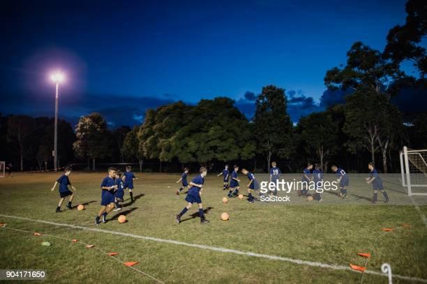 Fußball-Trainingsübung