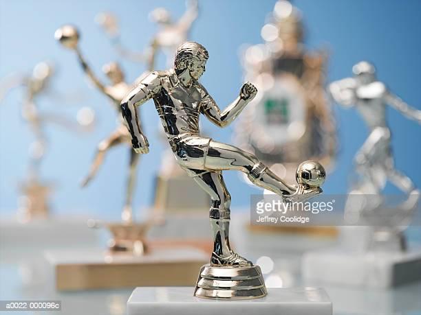 soccer trophy - the championship voetbalcompetitie stockfoto's en -beelden