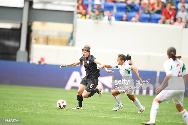 USA Amy LePeilbet in action vs Mexico Fany Mayor at Red Bull Arena Harrison NJ CREDIT Carlos M Saavedra