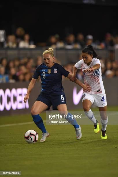 USA Amy Rodriguez in action vs Chile during Women's International Friendly at Avaya Stadium San Jose CA CREDIT Jordan Murph