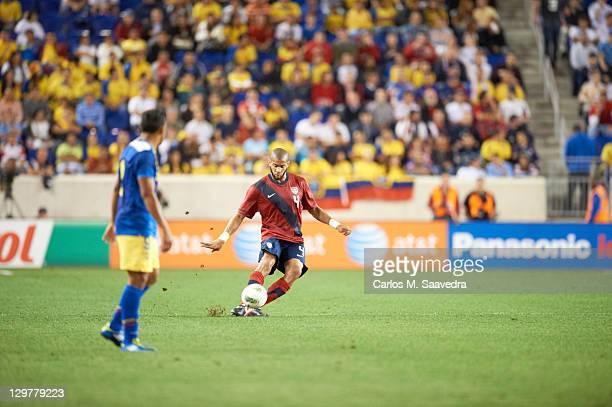 USA Oguchi Onyewu in action vs Ecuador during International Friendly at Red Bull Arena Harrison NJ CREDIT Carlos M Saavedra