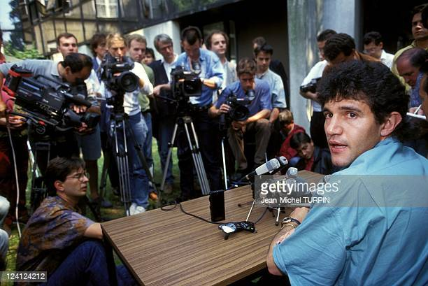 Soccer VAOM Affair in Valenciennes France on July 01 1993 Soccer player Jorge Burruchaga