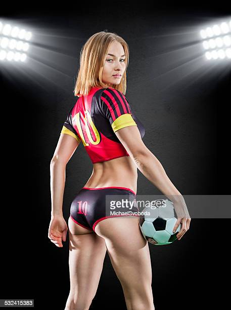 soccer women - stadium lights stock photos and pictures