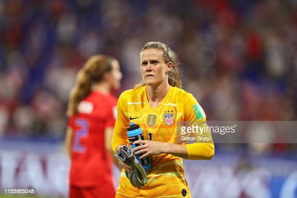 Women's World Cup USA goalkeeper Alyssa Naeher during Semifinal game vs England at Parc Olympique Lyonnais DecinesCharpieu France 7/2/2019 CREDIT...