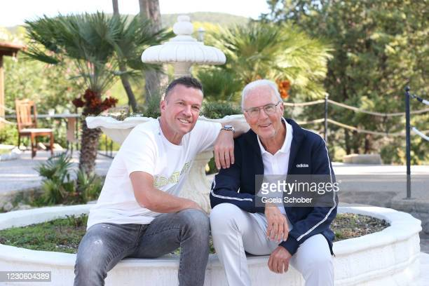 Soccer World Champions Lothar Matthaeus and Franz Beckenbauer shooting on October 10, 2020 at Il Pelagone hotel in Grosseto, Italy.