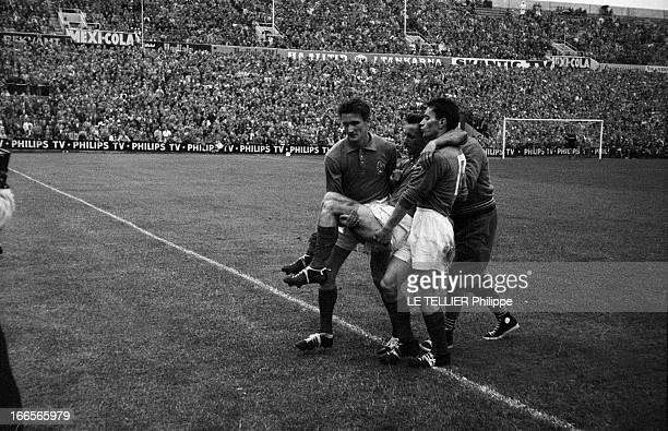 Soccer World Cup 1958 In Sweden En Suède à Solna le 24 juin 1958 à l'occasion de la Coupe du Monde de football lors de la demifinale de la...