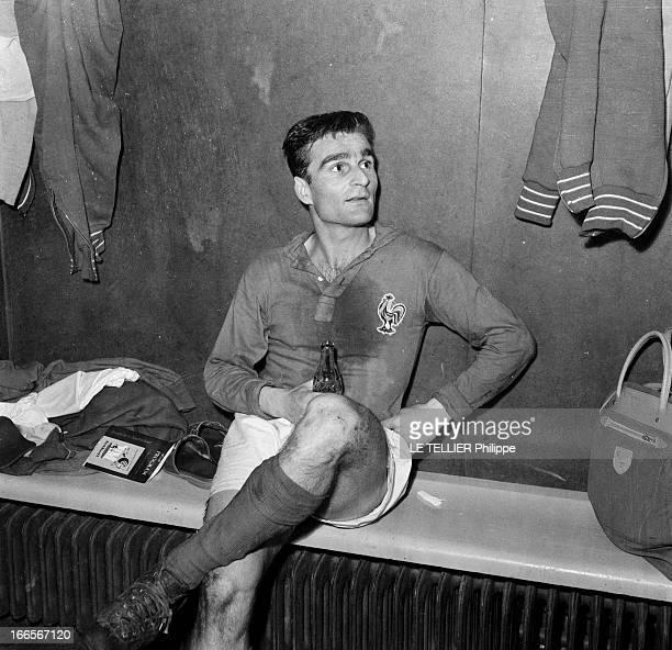 Match France Against Ireland En Suède à Norrköping le 19 juin 1958 lors de la Coupe du Monde de football 1958 après le match de quart de finale...