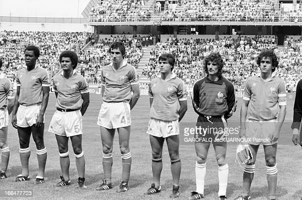The Match France Czechoslovakia Valladolid Espagne 24 juin 1982 La Coupe du Monde de football le match FranceTchécoslovaquie