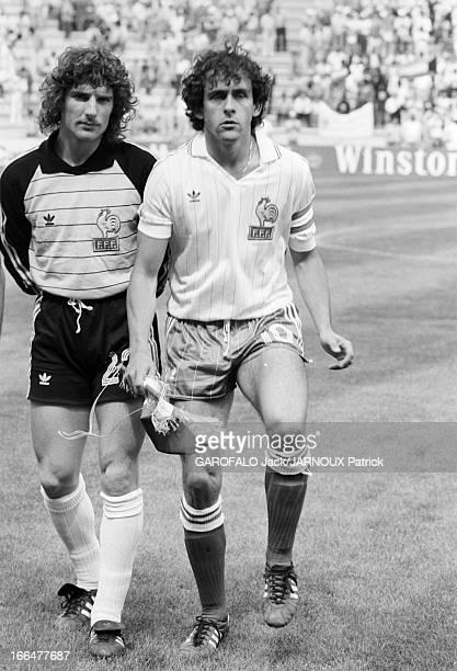 The Match France Kuwait Valladolid Espagne 21 juin 1982 La Coupe du Monde de football Match France Koweit