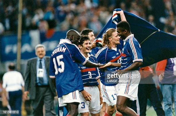 Soccer World Cup 1998 Final France Brazil Mondial de football 1998 SaintDenis 12 juillet 1998 L'équipe de France remporte la finale contre le Brésil...