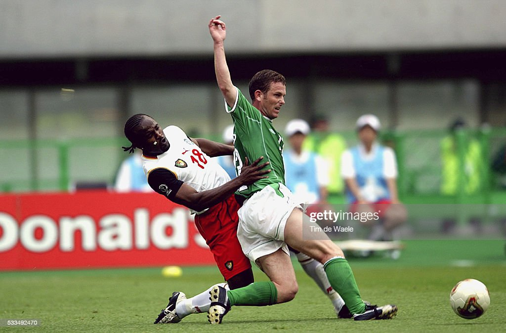 World Cup 2002 : Eire vs Cameroon : News Photo