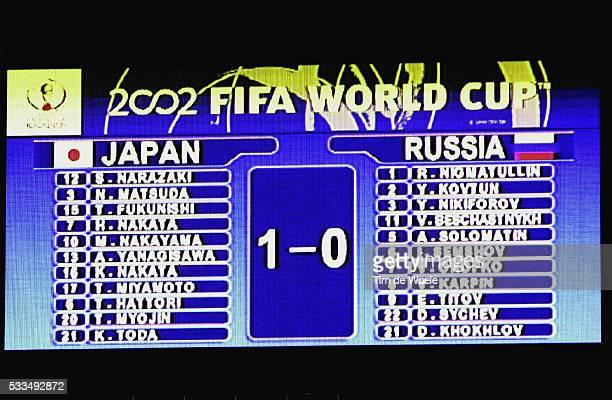 Japan Russia Final score on the scoreboard