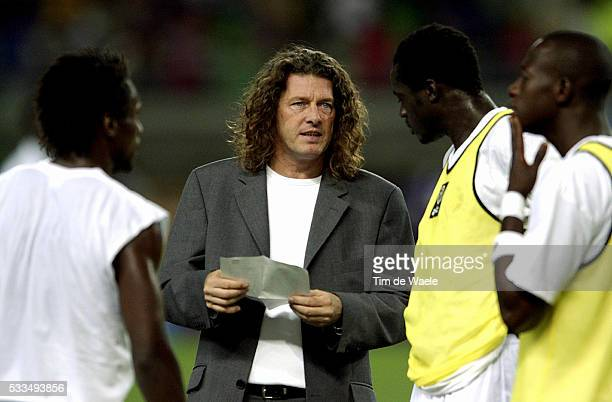Senegal Turkey Senegal team Bruno Metsu the french coach of Senegal Photo Tim De Waele/Corbis TempSport