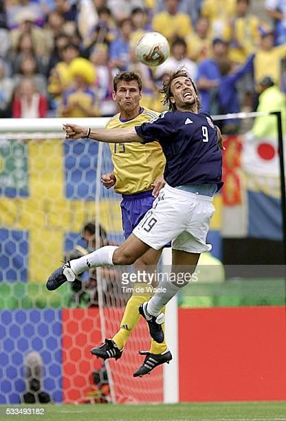 Sweden Argentina Andreas Jakobsson and Gabriel Batistuta | Location Miyagi Japan